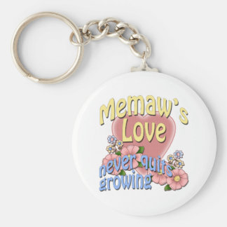 Memaw's Love Never Quits Growing Key Chain