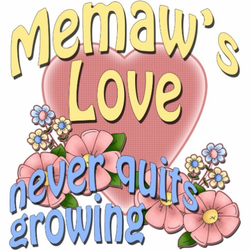 Memaw's Love Never Quits Growing Standing Photo Sculpture