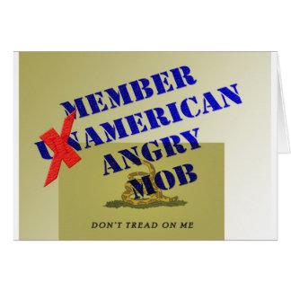 MEMBER American Angry Mob Greeting Card