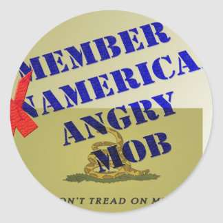 MEMBER American Angry Mob Classic Round Sticker