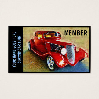 Member Card for  Classic Car Clubs