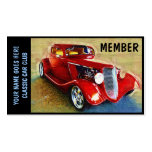 Member Card for  Classic Car Clubs Business Card Template