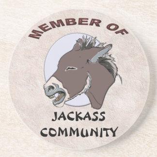 MEMBER OF JACKASS COMMMUNITY SANDSTONE COASTER