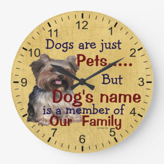 Member of Our Family Clock Your Dog's Name & Photo