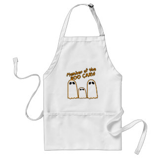 Member of the BOO CREW Funny Ghost Design Adult Apron