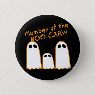Member of the BOO CREW Funny Ghost Design Button