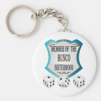 member of the bunco sisterhood keychain