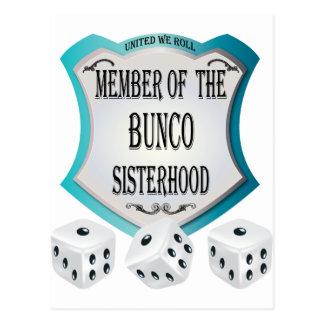 member of the bunco sisterhood postcard