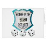 Member of the Bunko Sisterhood Greeting Cards