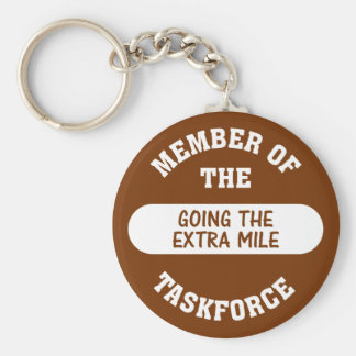 Member of the Going the Extra Mile Task Force Keychain