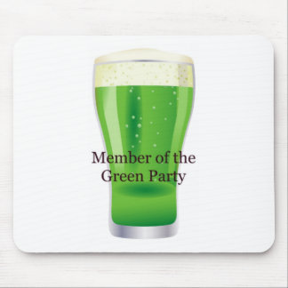 Member of the Green Party Beer St. Patrick's Day Mouse Pad