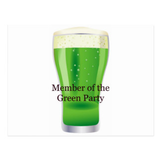 Member of the Green Party Beer St. Patrick's Day Postcard