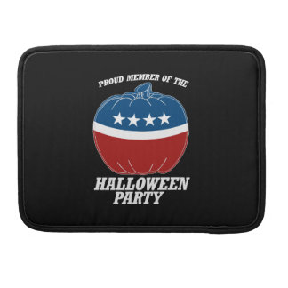 Member of the Halloween Party -.png Sleeve For MacBooks