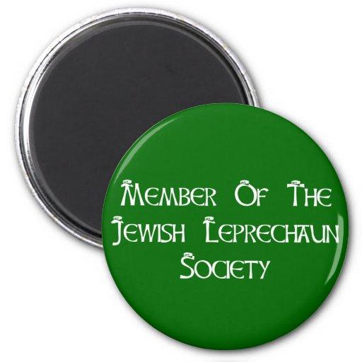 Member Of The Jewish Leprechaun Society 2 Inch Round Magnet