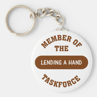 Member of the Lending a Hand Task Force Basic Round Button Keychain