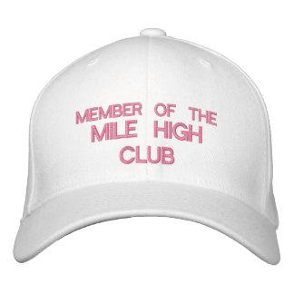 MEMBER OF THE MILE HIGH CLUB - Customizable Cap