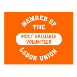 Member of the most valuable volunteer labor union post cards
