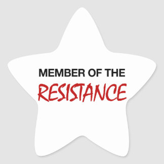 Member of the Resistance Star Sticker
