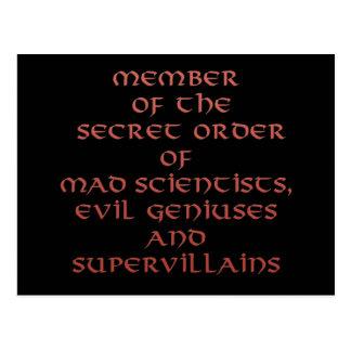 Member of the Secret Order postcards