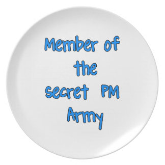 Member of the Secret PM Army Plate