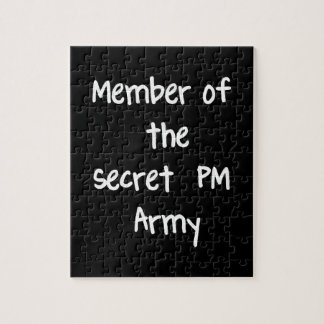 Member of the Secret PM Army Jigsaw Puzzles