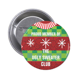 Member of the Ugly Sweater Club Button