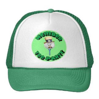 """Member, Tee Party"" caps, cups/mugs/water bottles Trucker Hats"