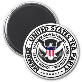 Member: United States Tea Party 2 Inch Round Magnet