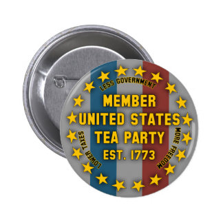 Member United States Tea Party Button