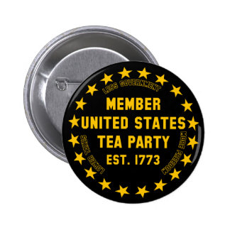 Member United States Tea Party Buttons