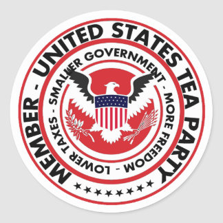 Member: United States Tea Party Classic Round Sticker