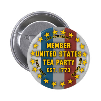 Member United States Tea Party Pinback Button