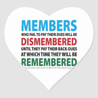 Members Dismembered 1 Sticker