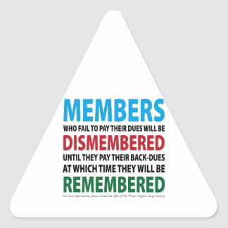 Members Dismembered 1 Triangle Sticker