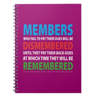 Members Dismembered 2 Notebook