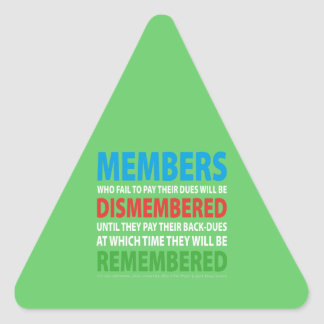 Members Dismembered 2 Triangle Sticker