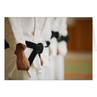 Members of a Judo Dojo Lined Up Card