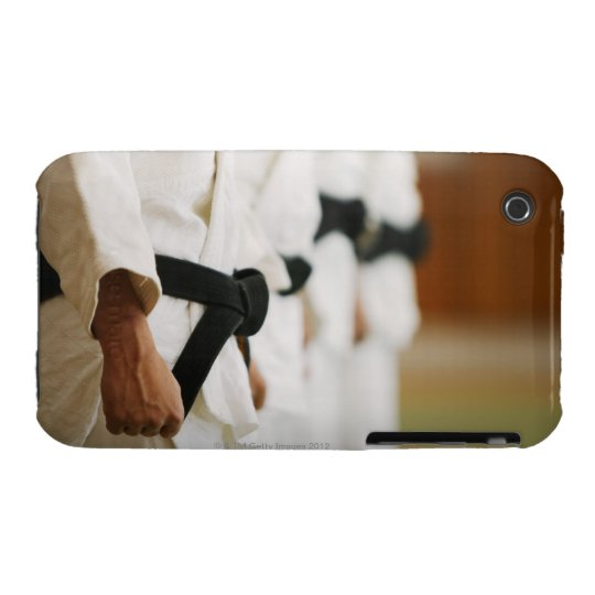 Members of a Judo Dojo Lined Up iPhone 3 Case-Mate Case