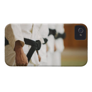 Members of a Judo Dojo Lined Up iPhone 4 Case-Mate Cases