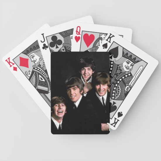 Members of Singing Group the Beatles Bicycle Playing Cards