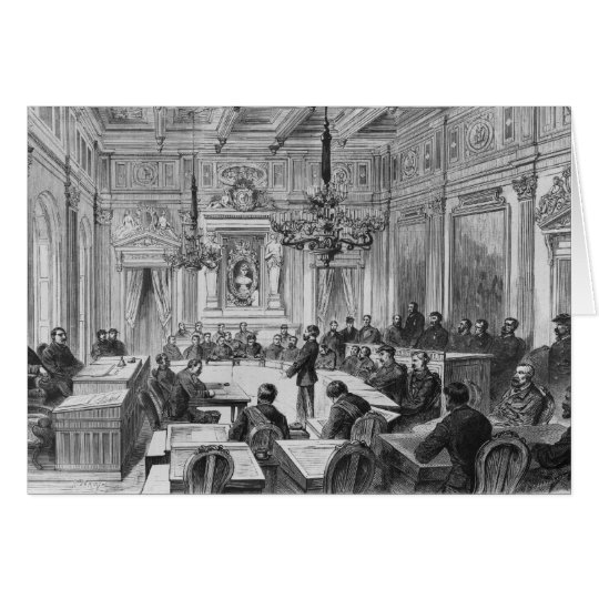 Members of the Commune in session Card
