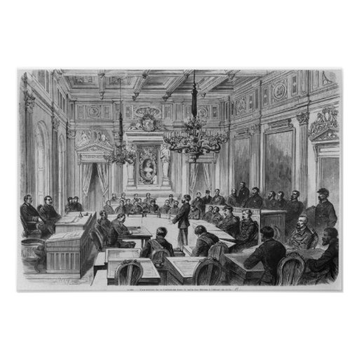 Members of the Commune in session Print