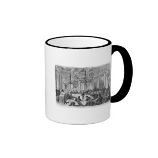Members of the Commune in session Ringer Mug