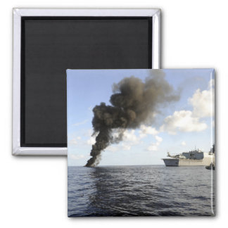 Members of the US Coast Guard 2 Inch Square Magnet