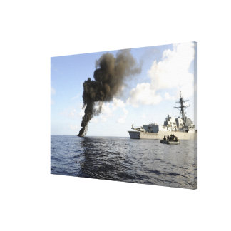 Members of the US Coast Guard Canvas Print