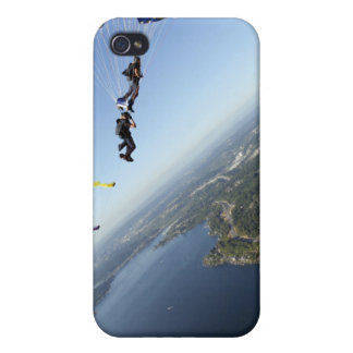 Members of the US Navy Parachute Team iPhone 4 Case