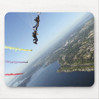 Members of the US Navy Parachute Team Mouse Pad
