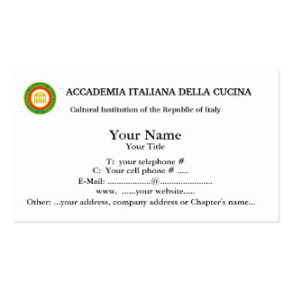 Members Only ACCADEMIA ITALIANA CUCINA  Busns card Business Card Templates