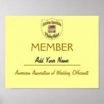 Membership Certificate AAWO posters