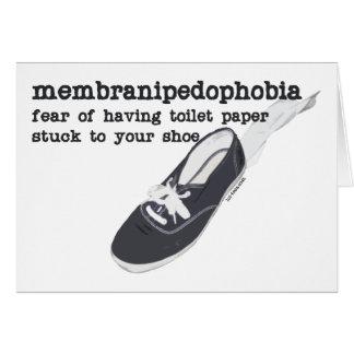 Membranipedophobia Tarjeta De Felicitación